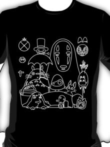 Ghibli in black T-Shirt