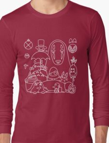 Ghibli in black Long Sleeve T-Shirt