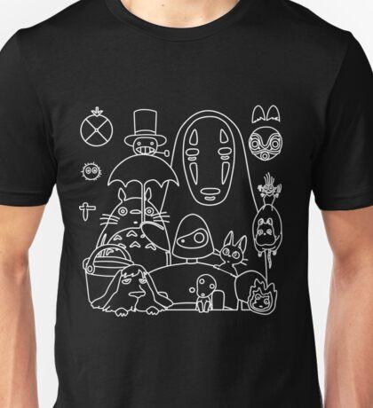Ghibli in black Unisex T-Shirt
