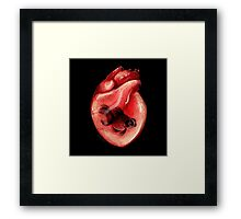 Black Moor Heart Framed Print