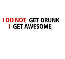 Awesome Drunk Party Time Funny Gift Photographic Print