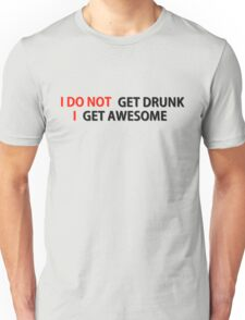 Awesome Drunk Party Time Funny Gift Unisex T-Shirt