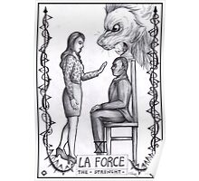 Hannibal tarots - La force - BW Poster