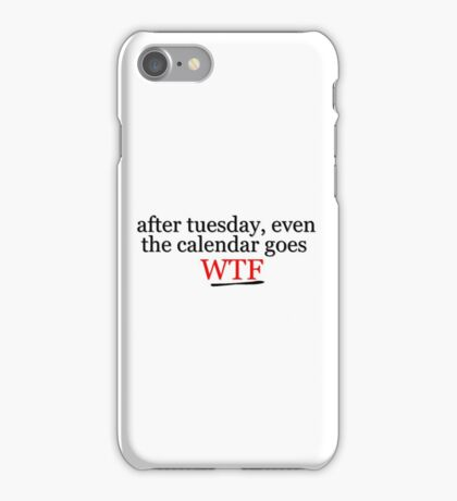 WTF Cool Title Funny Random Hipster Gift Punk Teenage  iPhone Case/Skin