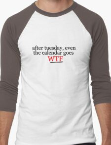 WTF Cool Title Funny Random Hipster Gift Punk Teenage  Men's Baseball ¾ T-Shirt