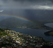 Rainbow Over Queenstown by davidandmandy