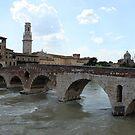 Ponte Pietra in Verona by Elena Skvortsova