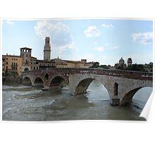 Ponte Pietra in Verona Poster