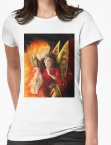 Hannibloom - Moth and Flame Womens Fitted T-Shirt