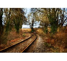 Train Track Photographic Print