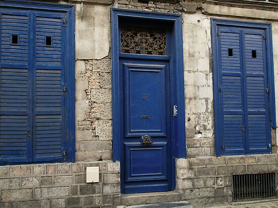 Doors n Shutters Blue by DavidFrench