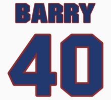Basketball player Barry Clemens jersey 40 by imsport
