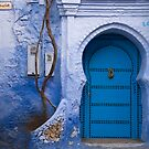 Blue Door in Blue Wall  by eyeshoot