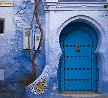 Blue Door in Blue Wall  by eyeshoot
