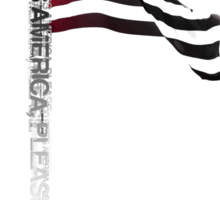 God Bless America Please - Typography Shirt Sticker