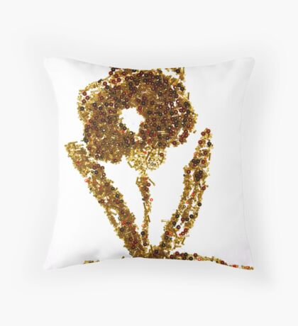 Bead Work Throw Pillow