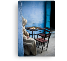 Solitary Chess Player Canvas Print