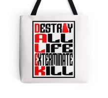 Dalek Manifesto Tote Bag