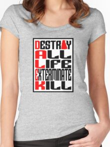 Dalek Manifesto Women's Fitted Scoop T-Shirt