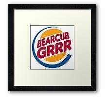 Bear Cub Grrr Framed Print