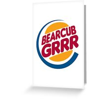 Bear Cub Grrr Greeting Card