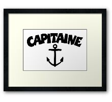 Capitaine Ancre Framed Print