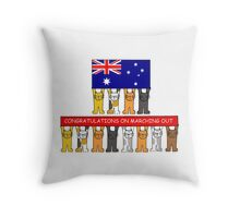 Marching Out Congratulations/Australia. Throw Pillow