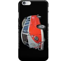 Orange Volkswagen Kombi with surfboard. iPhone Case/Skin
