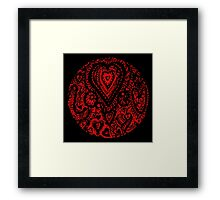 Valentine Circle of Hearts Black Surround Aussie Tangle - see Description Notes re Colours Framed Print