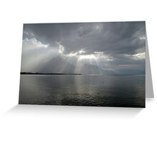 last rays before the storm Greeting Card