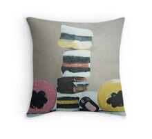 Licorice allsorts Throw Pillow
