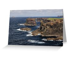 Cliffs of Esha Ness Greeting Card