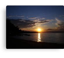 Sunset: Lake Erie II  Canvas Print