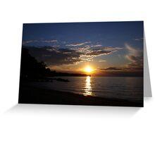 Sunset: Lake Erie II  Greeting Card