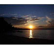 Sunset: Lake Erie II  Photographic Print