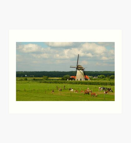 Revisiting the windmill at Lienden Art Print