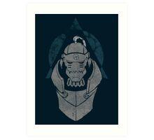 Alphonse Elric Grunge Art Print