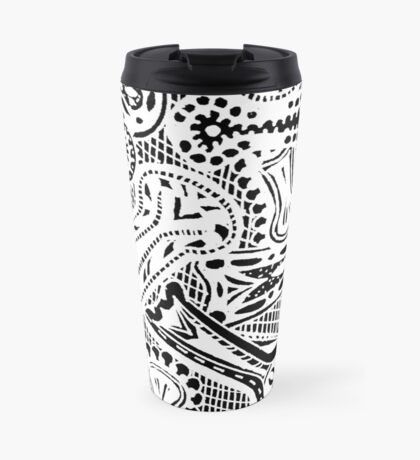 Keyholes 2  White - Aussie Tangle - See Description Notes re Colour Choices Travel Mug