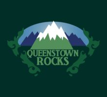 QUEENSTOWN rocks New Zealand with map by jazzydevil