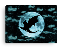 Moonlight Dragon-Smaug Canvas Print