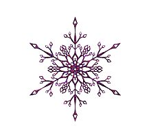 Purple Snowflake Photographic Print