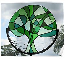 """Abstract """"Tree of Life"""" (Greens) Poster"""