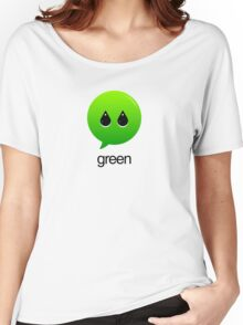 GREEN TYPOGRAPHY Women's Relaxed Fit T-Shirt