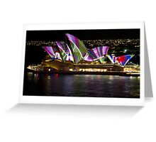 Peacock Sails - Sydney Vivid Festival - Sydney Opera House Greeting Card