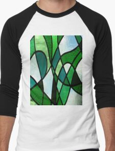 Stained Glass Abstract (Greens) T-Shirt