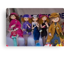 The Girls Are Dressed For Shopping Canvas Print
