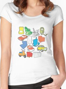 line art Women's Fitted Scoop T-Shirt