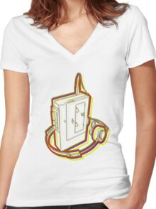 walkman Women's Fitted V-Neck T-Shirt