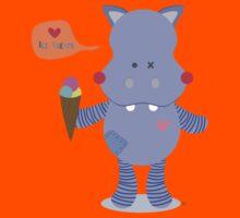 Hippo loves Ice Cream Kids Tee