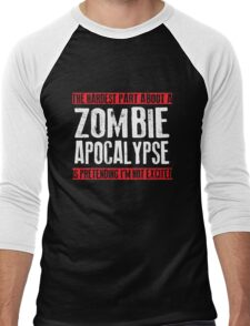 Zombie Apocalypse Men's Baseball ¾ T-Shirt